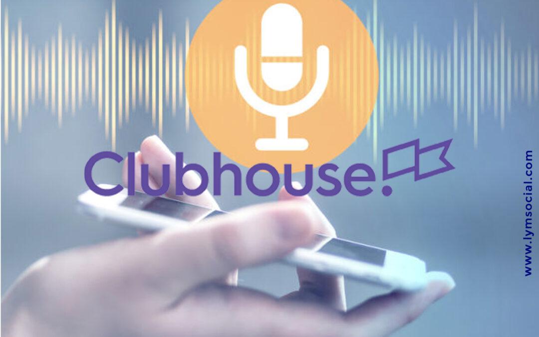 clubhouse red social de audios. lymsocial